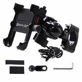 QC3.0 Schnellladung 4-6,5 zoll Telefonhalter Wasserdicht GPS Montieren Motorrad Moto Lenker Rückansicht Ständer