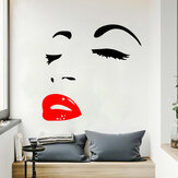 Adesivo da parete Miico FX1258 Red Lip Beauty Girl Wall Art Home Decor Stiker