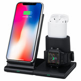 Bakeey 3 in 1 Magnetic 10W Qi Caricabatterie rapido wireless Dock Dock Stand Holder per iPhone Airpods per Apple Watch