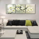Miico Hand Painted Three Combination Decorative Paintings Botanic Painting Wall Art For Home Decoration