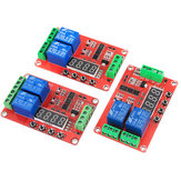 2 Channel Multi-function Relay Module Delay Self-lock CycleTiming Timer Relay 5V/12V/21V