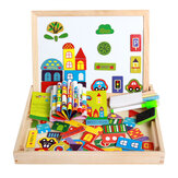 Kids Child Educational Magnetic Box Set with Whiteboard Jigsaw Board Puzzle Toys