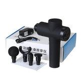 2000 mAh Elektryczny masażer perkusyjny 3300 RPM Urządzenie relaksujące wibracje mięśni tkankowych z 4 głowicami