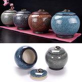 Cerâmica de cremação para urna de animais de estimação Memorial Jar Jar Cachorro Cinzas Lembrança Container Holder