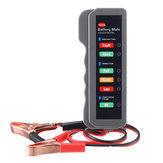 12V Car Battery Tester Digital Alternator Detector Mate Car Lighter Plug Diagnostic Tool with 6 LED Indicator