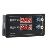 YF-15 Delay Intermittent Cycle Countdown Controller Module 7-27V DC Countdown Timer Programmable Cycle Control Module