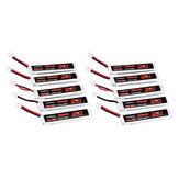 10Pcs URUAV 3.8V 300mAh 70C/140C 1S Lipo Battery PH2.0 Plug for Eachine TRASHCAN Snapper6 7 Mobula7