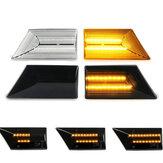 Paar Dynamische Vloeiende LED Zijmarkeringslichten Repeater Richtingaanwijzer Lamp Voor Opel Vauxhall Vectra C Signum 2002-2008