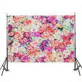 3x5FT 5x7FT Vinyl Flower Rose Wall Photography Backdrop Background Studio Prop
