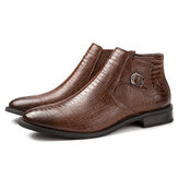 Da thật Mẫu thun thun Casual Soft Giày cao đến mắt cá chân