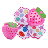 Kids Strawberry Cosmetic Princess Makeup Set Kit Eyeshadow Lip Gloss Blushes Girl Toys