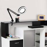YG-809-1 5X Lupenleuchte Beleuchtete Desktop-Lupe LED Lampe mit 81-mm-Klemmschwenkarm oder Lesung mit Staubschutz-Pflegewerkzeugen
