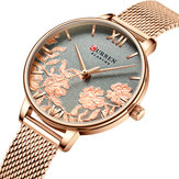 CURREN9065FlowerShowsenhoraselegantes relógio de pulso