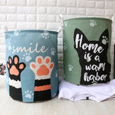 Dirty Clothes Storage Baskets Toy Storage Bucket Cartoon Folding Fabric Hamper Marble Laundry Basket