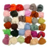 Kit de costura itinerante de fibra de lã de merino retro de 36 cores para feltragem de agulha