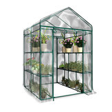 3-Tier Portable Greenhouse 6 Shelves PVC Cover Garden Cover Tanaman Rumah Bunga