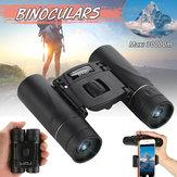 100x22 Mini Binóculos HD Dobrável Compact BAK4 Telescópio Binóculos de Visão Noturna de Alta Potência