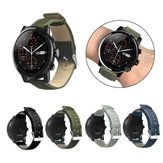 Bakeey Canvas Leather Watch Bande pour Amazfit Stratos 2/2S montre intelligente