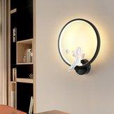 LED lumière moderne acrylique ange lampe led nordique décor de mur de ceinture