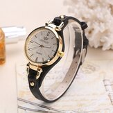 Deffrun Casual Style Colorful Gold Case Ladies Wrist Watch