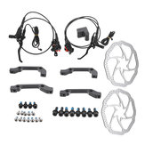 M2 Electric MTB Bike Hydraulic Brake Disc Set Front Rear Mineral Oil Lever With 160mm Rotors