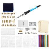 94Pcs 60W Electric Solder Iron Kit Wood Burning Pen Pyrography Craft Tool