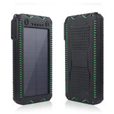 Bakeey 12000 mAh LED Zaklamp Solar Waterdicht Snel Opladen DIY Power Bank Case Voor iPhone XS 11 Pro Huawei P30 Pro Mate 30 5G 9Pro K30 S10 + Note10 5G