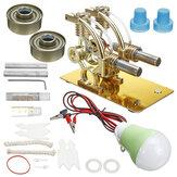 Stirlingmotor Heteluchtmodel Motor Kind Educatief pakket Leuke projecten Warmtemotor
