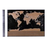 Scratch Off World Map Interactive Vacation Poster World Travel Maps For Home Office Decoration