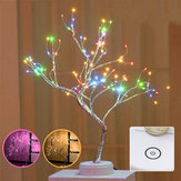 108LED USB Cobre Alambre Firefly Tree Touch Control Night Lámpara Christmas String Light Decoración navideña