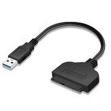 USB3.0 zu SATA7 15 Pin Festplattenkonverterkabel 2,5 '' SSD HDD Adapterkabel