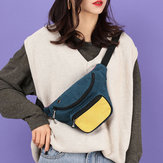 Mulheres moda multi-color cintura Bolsa crossbody Bolsa peito Bolsa