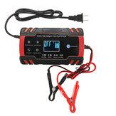 12V / 24V 8A Pantalla táctil Reparación de pulso LCD Batería Cargador rojo para Coche Moto Plomo ácido Batería Agm Gel Húmedo
