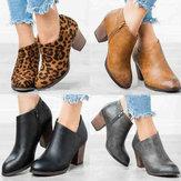 Clog High Chunky Heel Short Boots