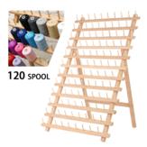 120 Carretel De Madeira Fio Cone Titular Rack Organizador Kit De Costura Para Costurar Quilting Bordado