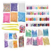 72 Pack DIY Slime Beads Charms Include Slime Tools Foam Balls Loose Beads Fishbowl Pearls