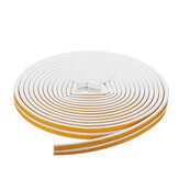 10M Self-adhesive D-Type Seal Strip Soundproof Doors Windows Weather Foam Adhesive Tape Decorations