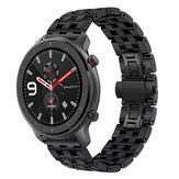 Bakeey 22mm Relógio de Liberação Rápida em Aço Inoxidável Banda para Amazfit GTR 42mm 47mm Relógio Inteligente