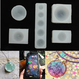 5pcs/Set Half Round Silicon Mould For Epoxy Resin Jewelry Decorative Craft