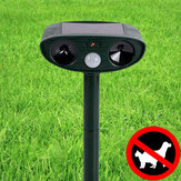 KCASA Outdoor Garden Solar Ultrasonic Repeller PIR Pest Animal Mouse Fox Cat Dog Repellent
