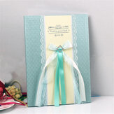Wedding Guest Book Elegant Lace Ribbons Sign Blank Birthday Party GuestBook Decorations
