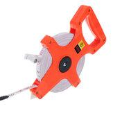 Drillpro 30M / 50M / 100M ABS Estante Carrete abierto Cinta de plástico portátil Regla de medición de la carpintería herramientas
