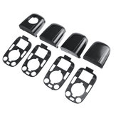 8Pcs Car Gloss Black Left & Right Door Handle Cap For Peugeot 307 / C2 C3 2003-2009