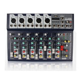 J.I.Y F7 25W 7 Channel 3-Band EQ AUX Output 48V Phantom Power Bluetooth Audio Mixer