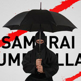 KCASA Creative Long Handle Large Windproof Samurai Umbrella Japanese Ninja-like Sun Rain Straight Umbrella Manual Open