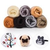 7 couleurs itinérantes fibre de laine bricolage aiguille feutre artisanat moelleux Soft fibre de laine couture artisanat Kit