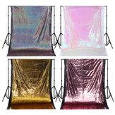 1.3x1.9m Glitter Pailletten Stof Fotografieachtergrond Gordijn Bruiloft Decor