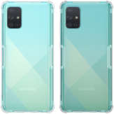 NILLKIN Bumpers Natural Clear Transparant Shockproof Soft TPU-beschermhoes voor Samsung Galaxy A71 2019