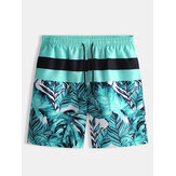 Hombres Playa Pantalones cortos casuales de cinco puntos con estampado de rayas Pantalones