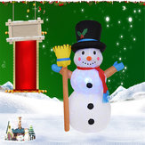 1.2M Inflatable LED Christmas Light Snowman Garden Party Yard Holiday Lamp Outdoor Indoor Decoration AC100-240V